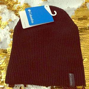 Columbia black knit beanie unisex